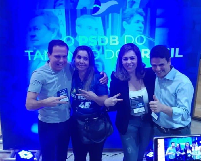 Cínthia Ribeiro participa do Congresso Nacional do PSDB, em Brasília;