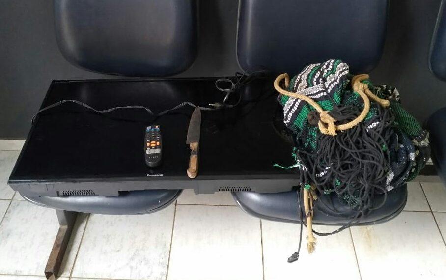 Suspeito de invadir restaurante, roubar rede de dormir e televisão é preso em Wanderlândia