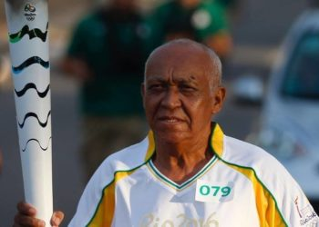 Em 2016, José Carlos conduziu a Tocha Olímpica em Palmas. Foto: Arquivo pessoal.