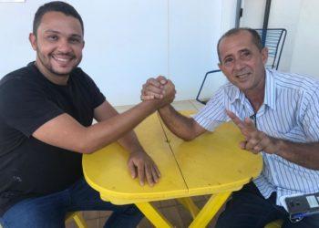 Pré-candidato a vereador de Palmas, Marcos Aurélio, com o empresário Gildemar Moreira, ex-subprefeito da região sul da Capital. Foto: Divulgação.
