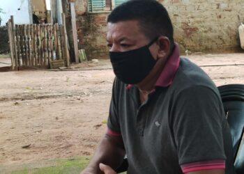 Morador de Palmas, Termiston Soares Santos, de 52 anos. Foto: Ramon Macedo.