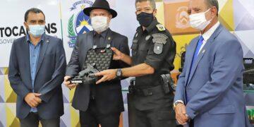 Governador Mauro Carlesse entregou mais de 500 armas de última geração para a Polícia Militar - Esequias Araújo/Governo do Tocantins