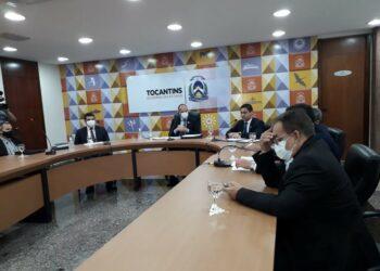 Governo fez coletiva sobre a PEC dos Pioneiros — Foto: Stefani Cavalcante/G1
